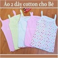 Áo 2 dây cho bé gái từ 1 đến 3 tuổi - hàng Việt Nam (05 chiếc)