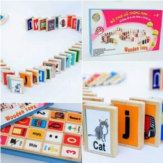 Bộ đồ chơi Domino gỗ thông minh cho bé từ 03 tuổi trở lên