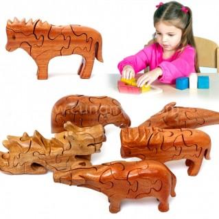 Bộ đồ chơi xếp hình động vật cho bé yêu