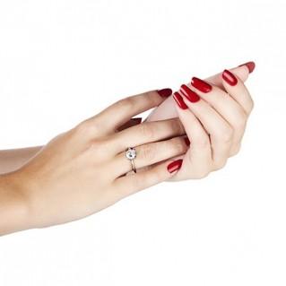 Nhẫn bạc cao cấp (tặng 01 viên kim cương nhân tạo 6.5 li)