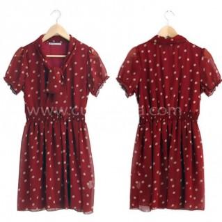Đầm voan chấm bi thời trang cho bạn gái