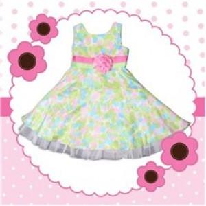 Đầm hoa cho bé kiểu Pháp (2-4tuổi)