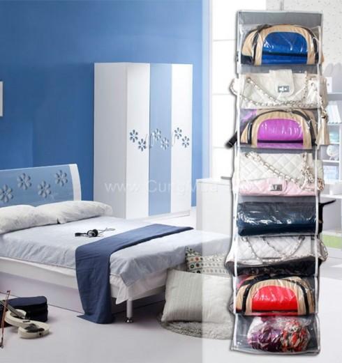 Tủ treo giỏ xách 16 ngăn tiện dụng