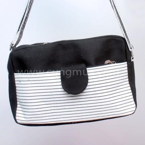 Túi xách vải cầm tay họa tiết mỏ neo thời trang cho bạn gái