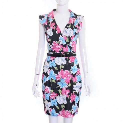 Đầm hoa công sở cao cấp BUK