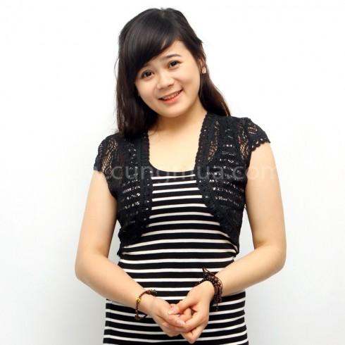 Áo ren lửng đen & trắng (02 áo)