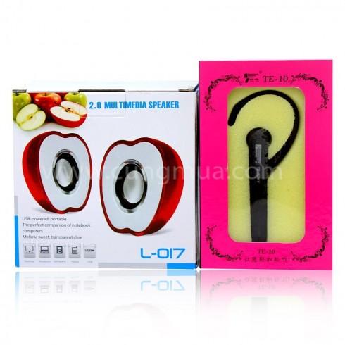 Loa quả táo L-017 và 01 tai nghe TE-10