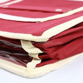 Tủ vải treo tường 3 ngăn tiện lợi chứa nhiều vật dụng, quần áo