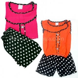 Bộ quần áo vải lanh mềm mại cho bé gái (02 bộ)
