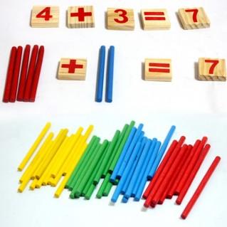 Bảng tính bằng gỗ giúp bé nhận biết nhanh các con số