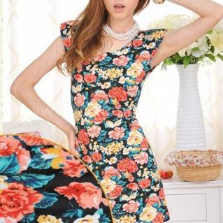 Váy thun hoa thời trang