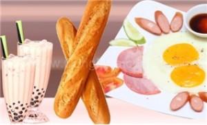 Combo 2 ly trà sữa + 2 ổ bánh mì ốp la thịt nguội xúc xích tại Lolita