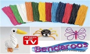 Bộ sáp nặn tạo hình BENDAROOS (500 que, 12 màu)