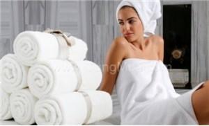 Khăn tắm cỡ lớn chất liệu sợi bông se đôi 100% cotton, mềm mại, êm ái - 1 - Gia Dụng