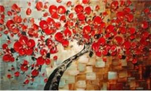 Kỹ thuật in 3D trên tranh sơn dầu nền vải canvas hoặc bộ 3 tranh vuông