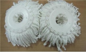 02 Bông lau nhà 360 độ màu trắng thấm hút cực tốt, nhanh khô & cực bền