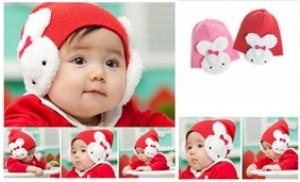 Mũ len tai thỏ ấm áp cho trẻ em từ 03 tháng - 04 tuổi - 2 - Thời Trang và Phụ Kiện