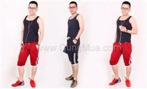 Bộ đồ thể thao nam phong cách Hàn Quốc thời trang, hiện đại