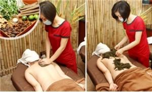 Dịch vụ massage bằng gừng tươi và ngải cứu (60 phút) tại Le Spa