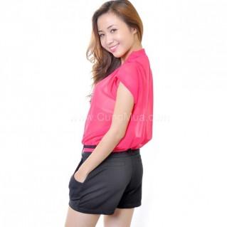 Jumpsuit Color Summer thắt dây eo