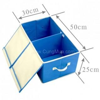 Tủ vải di động 2 ngăn tiện dụng