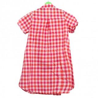 Áo váy kẻ caro màu hồng cho bé