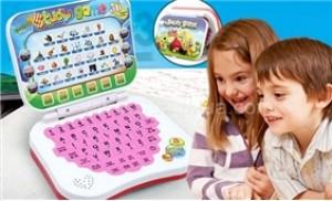Laptop mini học ngoại ngữ giúp bé vưa học vừa chơi vô cùng bổ ích