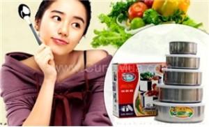 Bộ 5 thố inox có nắp đậy tiện dụng cho bạn bảo quản đồ ăn