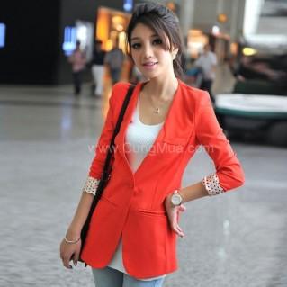 Áo khoác nữ giả vest tay beo thời trang