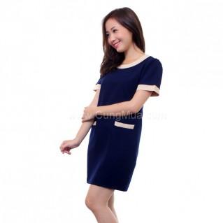 Đầm công sở phối nơ cho nữ
