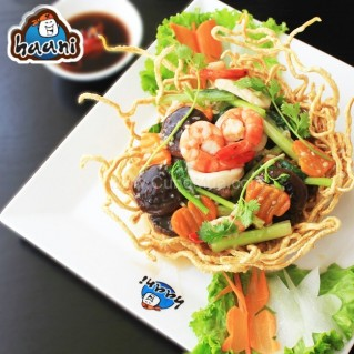 Cá Saba Nauy nướng hoặc mì xào giòn hải sản - NH Haani (1 người)