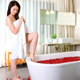Khăn tắm (60 x 120cm) và khăn mặt Thịnh Vinh (28 x 41cm)