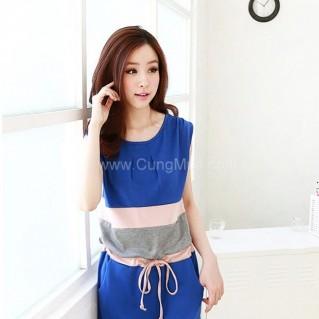 Đầm cánh dơi mix color Joss