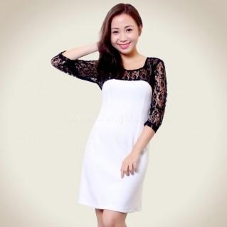 Đầm thời trang phối ren cao cấp