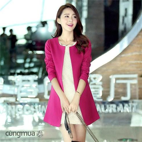 Áo khoác dáng dài cao cấp thời trang Hàn Quốc