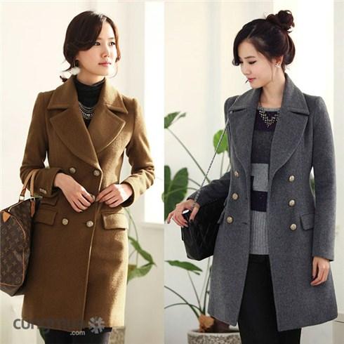 Áo khoác măng tô dạ thời trang cao cấp Hàn Quốc 2 lớp