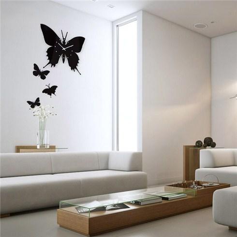 Đồng hồ treo tường hình cánh bướm có kèm pin