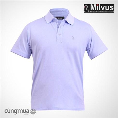 Áo thun T-shirt nam Milvus màu xanh biển nhạt 219