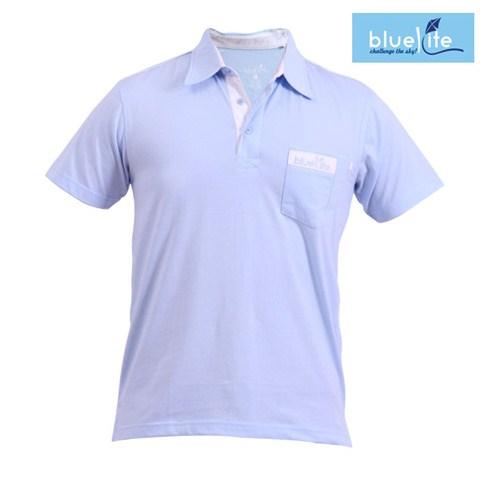 Áo thun Polo nam ngắn tay 008 Xanh da trời - Bluekite