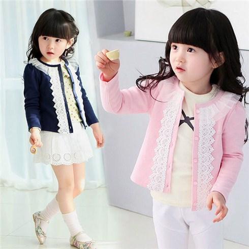 Áo khoác cho bé cổ ren đáng yêu (dưới 6 tuổi)