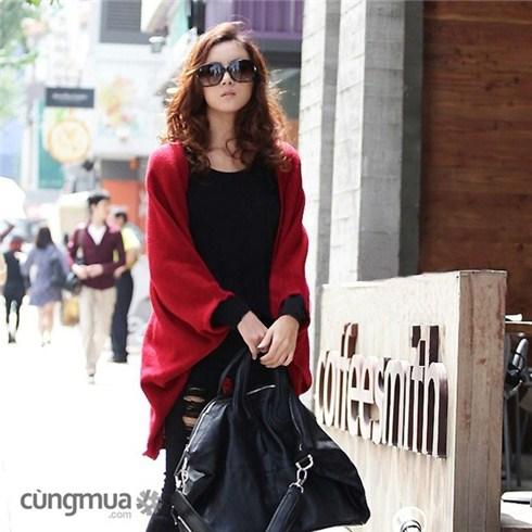 Áo khoác nữ choàng len