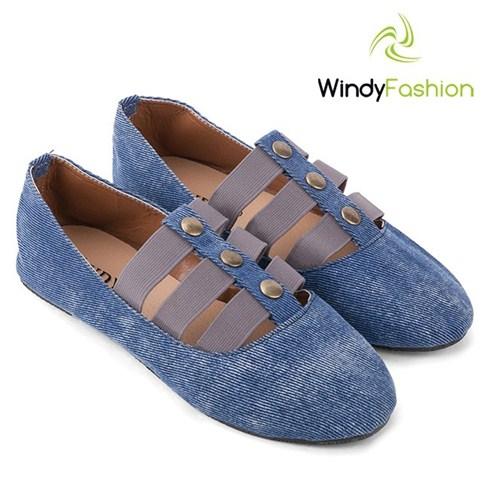 Giày vải jean sandal Windy màu xanh jean