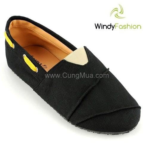 Giày vải jean Windy phối dây đen (dành cho cả nam và nữ)