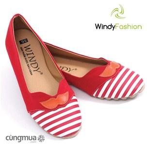 Giày vải jean Windy râu đỏ thời trang