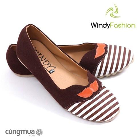 Giày vải jean Windy râu nâu thời trang