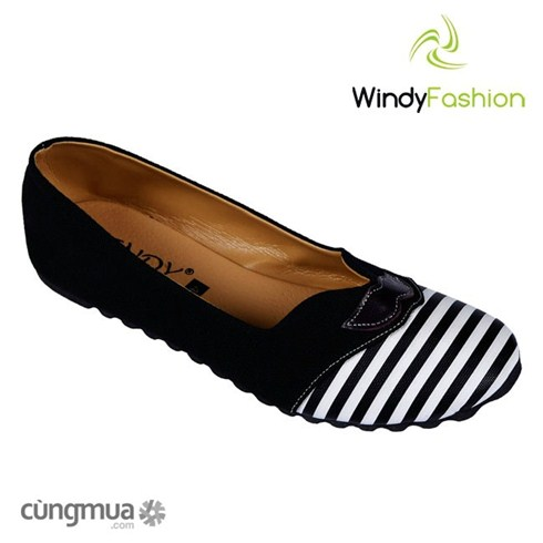 Giày vải jean râu đen Windy