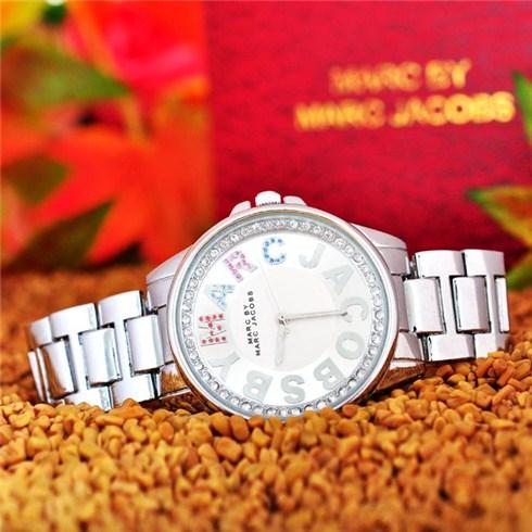 Đồng hồ nữ đính đá màu kiểu dáng Marc Jacobs - Bảo hành 1 năm