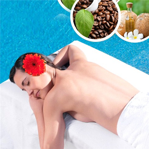 Tắm dưỡng trắng mịn da bằng cà phê và dầu dừa - F'Miss spa