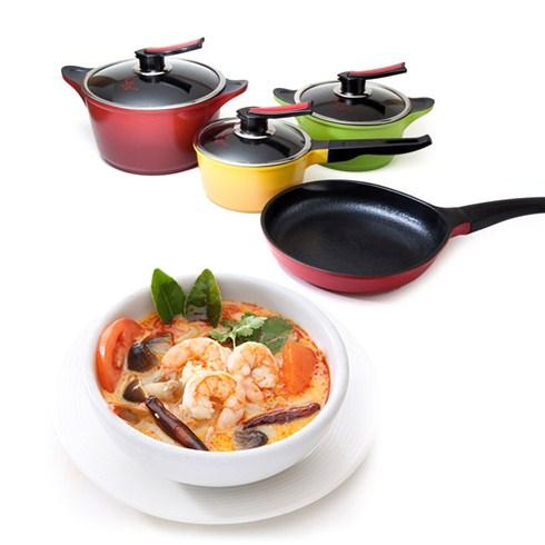 Bộ nồi men sứ My Cook cao cấp xuất xứ Hàn Quốc (4 món)