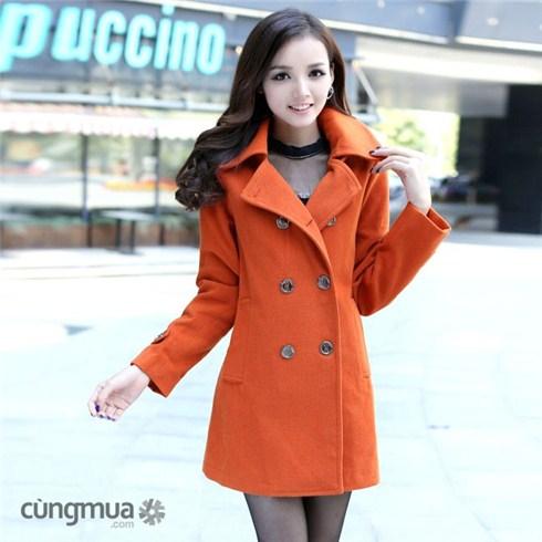 Áo khoác măng tô 2 lớp phong cách Hàn Quốc